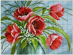 вышивка крестом больших размеров цветы: 21 тыс изображений найдено в Яндекс.Картинках