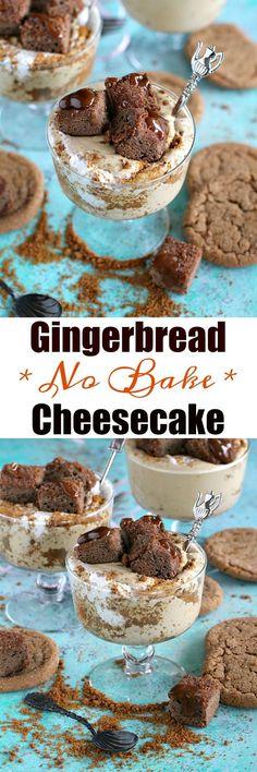 No Bake Gingerbread Cheesecake