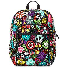 Mickey's Magical Blooms Campus Backpack by Vera Bradley | Disney Store