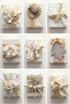 Burlap Fabric Ideas for Christmas | Empezamos con estos paquetitos divinos. Como hacerlos paso a paso
