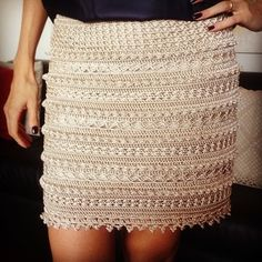 Saia crochet