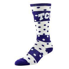 Women's TCU Horned Frogs Dotted Line Knee-High Socks, Size: 9-11, Purple