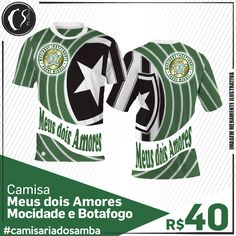 Camisa Meus dois Amores -  Mocidade e Botafogo
