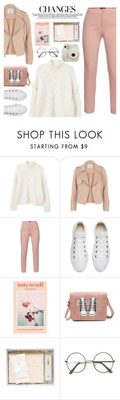 """""""A New Chapter"""" by pure-vnom ❤ liked on Polyvore featuring MANGO, River Island, WtR, Converse and Fuji"""