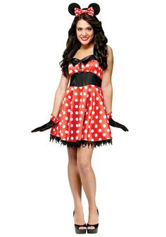 Costume sexy adult mouse halloween minnie