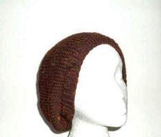 Wool beanie Beret Brown tweed flecks handmade hat  by CaboDesigns, $26.00