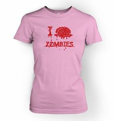 $20.99 nice I Brain Zombies Womens T-shirt - Films,TV And Movie Geeky Tshirt