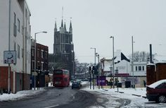 Drummond Road Croydon Surrey England in Snow