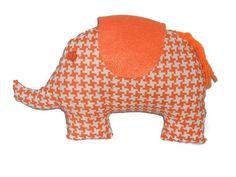 Orange Elephant plushie - Lovely Cuddly Toy . Stuffed Animal . Felt plush . Mabrisa . Children toy gift