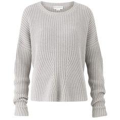 Amanda Wakeley Kinishba Mercury Oversized Sweater ($535) ❤ liked on Polyvore featuring tops, sweaters, blue, crewneck, knitwear, slim fit sweaters, white crew neck sweater, blue sweater, oversized sweater and oversized crew neck sweater