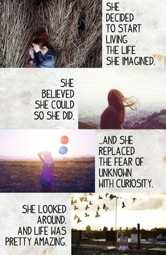 She believed she could so she did .