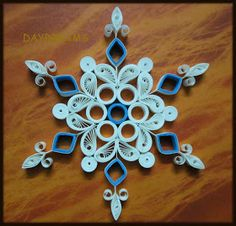 QUILLED SNOWFLAKE                        QUILLED ANGEL            Red colou...