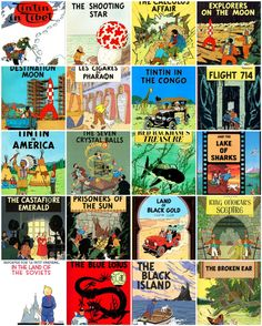Tintin comics..  fell in love with the old, worn copies at the public library.  They were in a lonely corner, on a shelf dedicated to them, but didn't seem very loved.  I loved them.  <3  I had so many strange adventures with Tintin