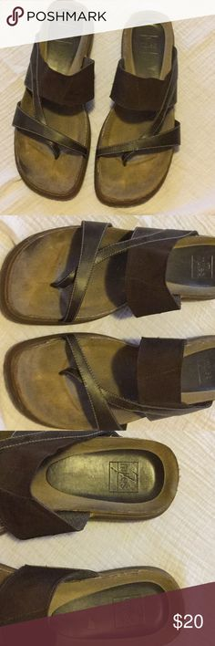 🌲 🎁 7Miles Sandals size 11 EUC Brown leather sandals size 11 7miles Shoes Sandals