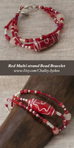 Handmade bracelet made using beads made from recycled glass bottles. Beads handmade in Ghana and Mali; Bracelet handmade in UK. Unique items of gorgeous global sustainable jewellery by Challey Ayekoo.