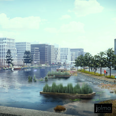 Jolma Architects specializes in innovative urban design. Utilizing the latest in urban research and development we create smart, sustainable cities and neighborhoods that are attractive environments in which to live and work. Sustainable Transport, Sustainable City, Wooden Buildings, Land Use, Futuristic City, Design Competitions, Modern City, Urban Life, Built Environment