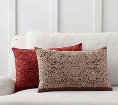Sabyasachi Romany Embroidered Lumbar Pillow Cover