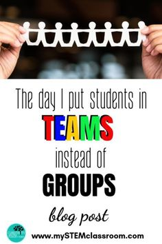 Find out what happened the day I put students into teams instead of groups. They way they worked together was astounding. Science Resources, Science Lessons, Teaching Science, Math Activities, Teaching Kids, Science Experiments, Behavior Management, Classroom Management, Kindergarten Stem