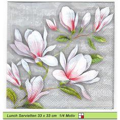5 Servietten Blumen Blau Serviettentechnik Motivservietten 1//4 TENDER FLOWERS