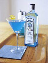 The Sapphire Alpine  (1 part Bombay Sapphire gin  1 part Blue Curacao liqueur  1 part Peach Schnapps)