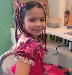Penteado para crianças em festa junina!! | Deby Dicas