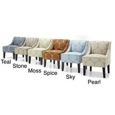 @Overstock.com - Marlow Gabrieel Accent Chair - Spruce up the look of any room with this pretty accent chair. With beautifully finished espresso frames, tufted-back styling, and your choice of six stunning fabric colors, this chair enhances any decor and provides your home with much-needed seating.  http://www.overstock.com/Home-Garden/Marlow-Gabrieel-Accent-Chair/8186862/product.html?CID=214117 $174.99