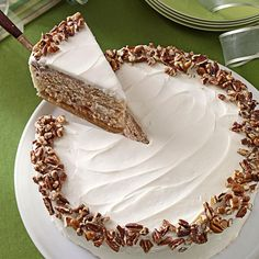 Cherry Spice Cake Recipe -At least four generations of women in my family have been baking this Cherry Spice Cake. It's always my mom's pick for her birthday. I like to use cream cheese frosting, but when my mother was growing up, my grandma frosted the cake with butter cream.—Laurie Sanders, Manchester, Michigan