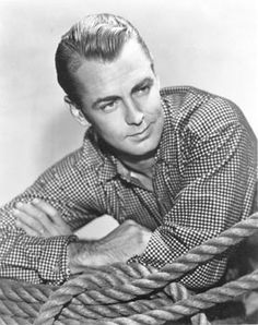 """Alan Ladd (1913-1964), actor & producer. His extensive credits include title role in 5-time Oscar-nominated """"Shane"""", """"The Blue Dahlia"""" & """"The Carpetbaggers"""". Ladd's performance in """"This Gun For Hire"""" played an important role in the development of the """"gangster"""" film genre. He was among the most popular & well known celebrities of his time. His star on the Hollywood Walk of Fame is in the forecourt of Grauman's Chinese Theatre. Born in Hot Springs, AR. #Arkansas #actor #Shane #Hollywood"""