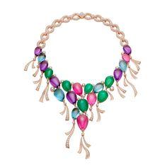 Bulgari Festa Palloncini Balloon necklace with amethysts, aquamarines, emeralds, tourmalines and diamonds