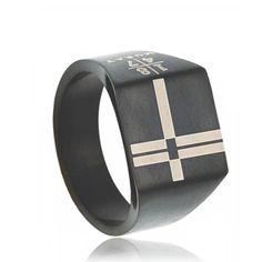 Chevalière acier croyance - Murat Paris Life Symbol, Paris, Signet Ring, Latest Fashion, Stainless Steel, Jewels, Rings, Men, Accessories