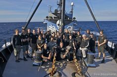 Captain Paul Watson and the crew of the Steve Irwin    Photo: Sea Shepherd