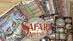 Safari Adventure - Deluxe Collector's Edition by Graphic 45 Go on a wild adventure with Graphic Introducing our new Deluxe Collector's Edition, Safari Ad. Dark Color Palette, Dark Colors, Safari Adventure, Graphic 45, Ink Pads, The Collector, Mini Albums, The Darkest, Vintage Inspired