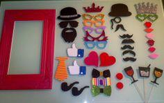 Pack marco vintage pequeño mas 40 accesorios de Manualidades creativas vintage por DaWanda.com