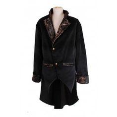 Manteau Queue de Pie Homme Gothique Steampunk Velours