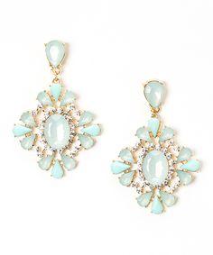 Mint Burst Drop Earrings