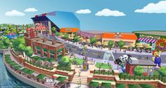 The Simpsons are going to Florida! Universal Orlando announced Thursday that the animated TV family will headline The World of Springfield — a new area within Universal built around The Simpsons Ride. Universal Studios Florida, Universal Orlando, Universal Resort, Orlando Florida, Orlando Theme Parks, Orlando Vacation, Orlando Resorts, Florida Vacation, Florida Travel