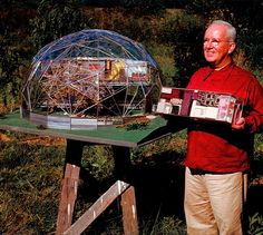 buckminster fuller and geodesic dome model