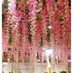 Flower Garland Wedding, Flower Garlands, Flower Decorations, Wedding Flowers, Wedding Decorations, Fake Flowers Decor, Wedding Bouquet, Flower Ceiling, Flower Chandelier