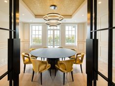 LED metal pendant lamp with dimmer AURA by Cameron Design House design Ian Cameron