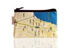 ISRAEL map coin purse wallet with black zipper  I love by efratul