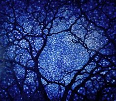 Midnight in the Garden ~ New Painting on http://alisonjardine.com