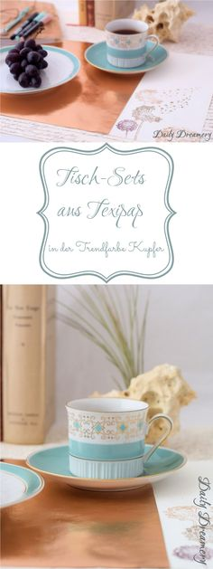 DIY: Elegante Tisch-Sets aus Texipap ® in der Trendfarbe Kupfer - Anleitung für selbstgemache Tischsets von Daily Dreamery #diy #tischset #diytischset #texipap #kupfer