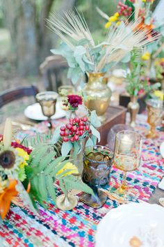 Pretty eclectic table scape.