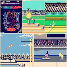 WEBSTA Summer Games Commodore 64 By Epyx / U. Summer Games is a sports video game developed by Epyx and released by U. Gold based on sports featured in the Summer Olympic Games. History Of Video Games, Sega Master System, Vintage Video Games, Retro Arcade, Summer Games, Star Citizen, Summer Olympics, Game 1, Olympic Games