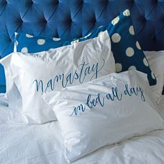 Learn to DIY your own version with classes from Laura Hooper Calligraphy. | 36 Insanely Awesome And Inexpensive Things You Need For Your Bedroom