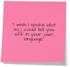 I wish I could tell you off in your own language! ~ See more @ www.FunnyOnlinePictures.com ~