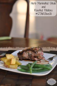 Herb Crusted Steak with #STAROliveOil #shop #cbias