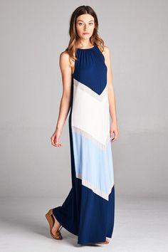 2b5cf36a626 Blue Crush Navy Blue White Maxi Dress Shop Simply Me Boutique SMB –  www.shopsimplyme