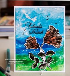 technique : arrière-plan aux crayons de cire fondus * melted paper crafters crayons background #FaberCastell #PennyBlack