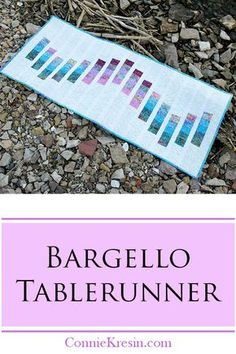 Bargello Quilted Table Runner Tutorial for a easy project #islandbatik #aurifil #tablerunner #quilt #batiks